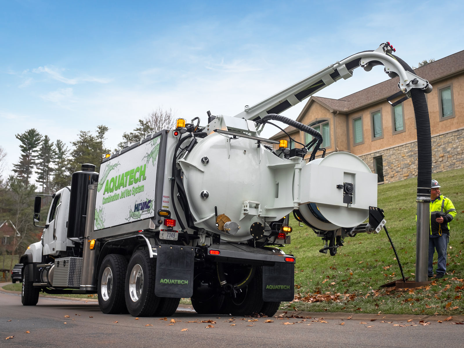 B-Series Jet Vac Sewer Truck in action