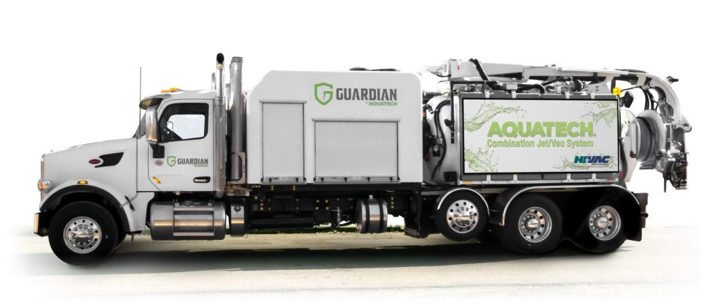 Guardian Jet Vac Truck sewer cleaning machine side profile