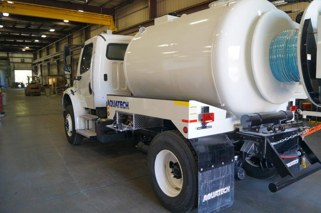 SJR Water Jetter Truck rear quarter