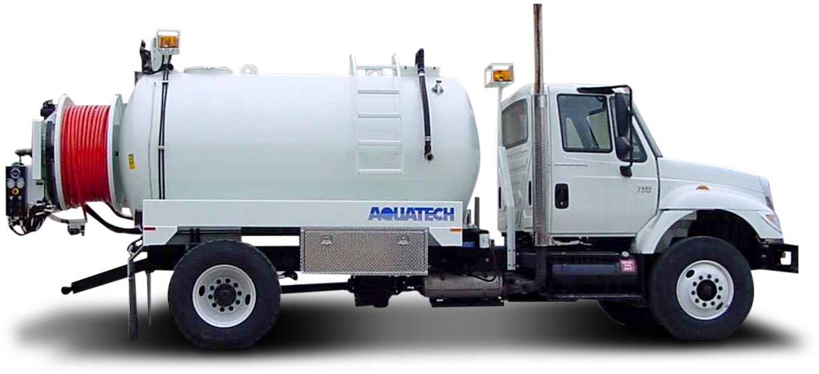 SJR Water Jetter Truck side profile
