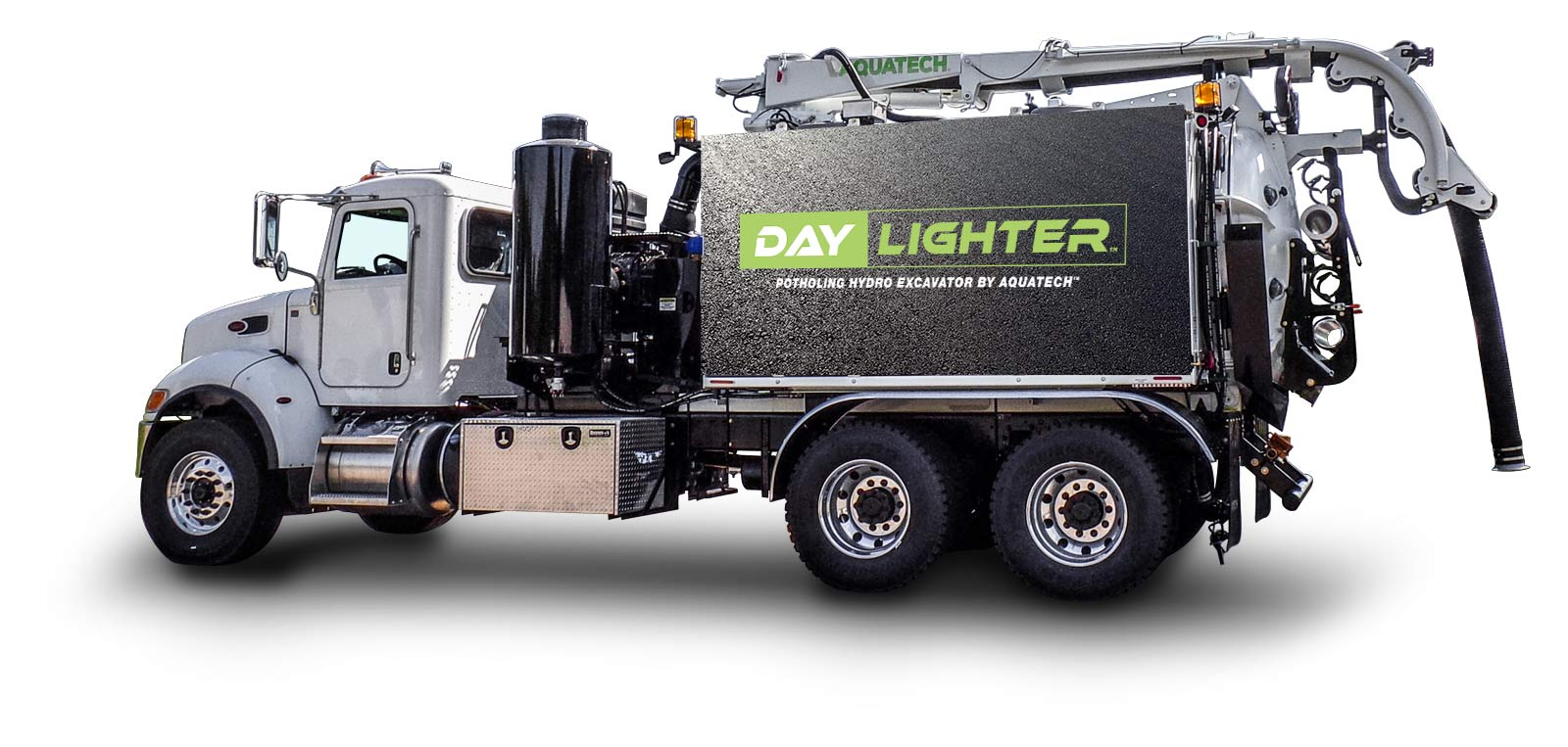 Daylighter Hydro Excavator sewage trucks side profile